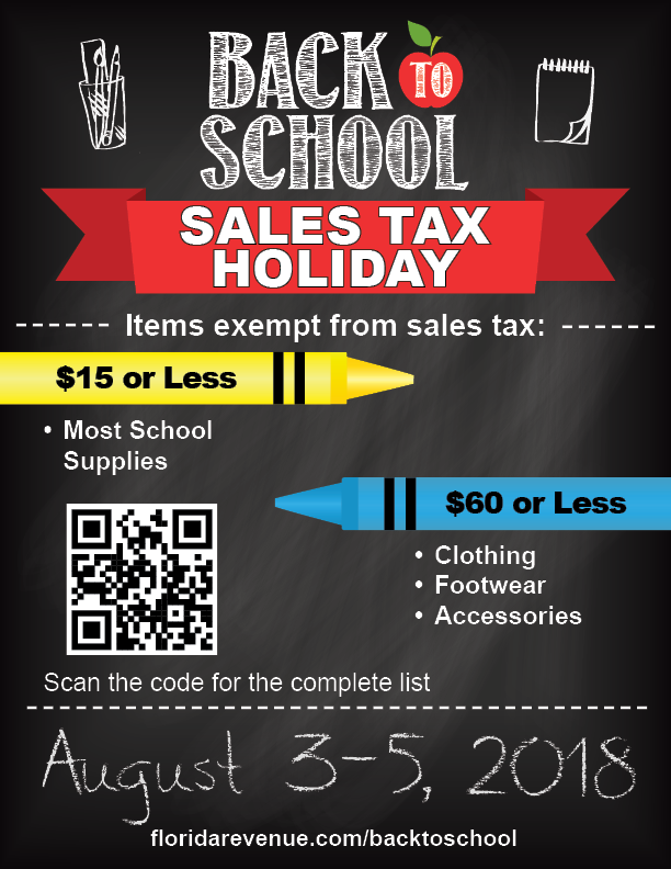 Back to School Sale Tax Rules